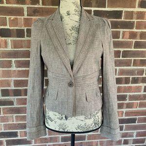 Like new BCBGMaxAzria beige linen blazer jacket